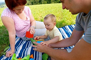 Familie Picknick Wiese