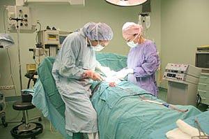 Kaiserschnitt OP-Bild