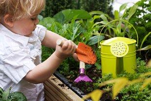 Gärtnern mit Kind