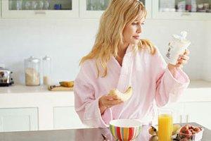 Frau Ernährung schlank bleiben