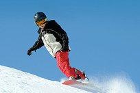 Junge Snowboard