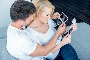 Paar schwanger ultraschall
