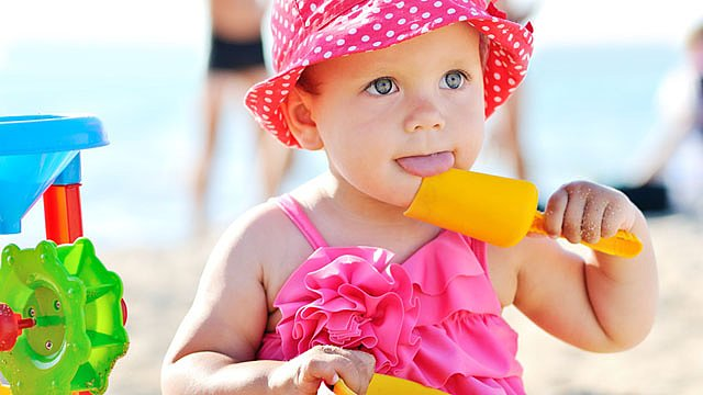 Baby Urlaub Strand Slider