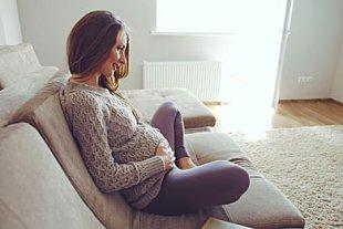 Frau Entspannung Geburt