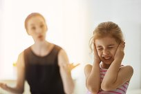 Kind anschreien