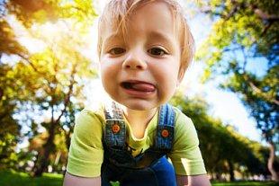 Kind im Park