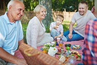 Picknick-Familie