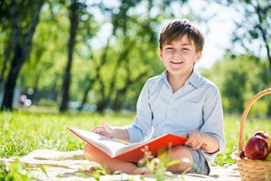 Kind lernen Ferien