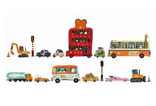 Wandsticker Fahrzeuge