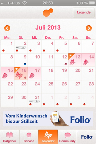 App: Kalender