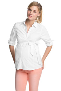 Bluse aus Baumwollstretch