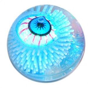 Glitterball mit leuchtendem Auge