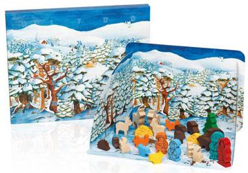 8. Für Kleine: Holzfiguren-Adventskalender