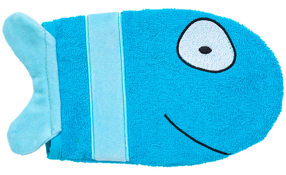Waschhandschuh Fisch