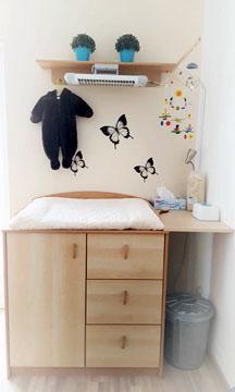 schaut mal unser wickeltisch. Black Bedroom Furniture Sets. Home Design Ideas