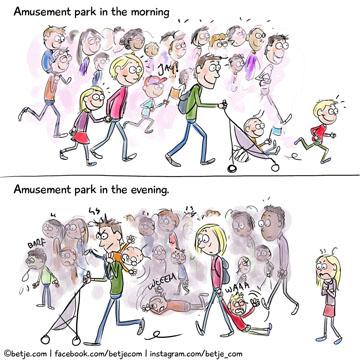Besuch im Freizeitpark