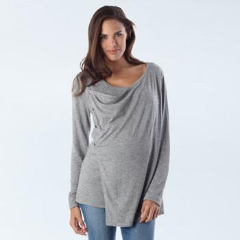Umstands- und Still-Pullover mit innovativer Schalfront