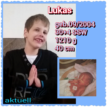 Frühchen Lukas damals und heute
