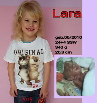 Frühchen Lara damals und heute