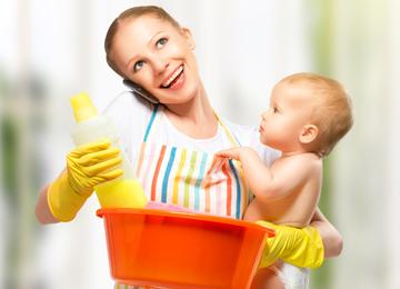 Im Reinigungsrausch