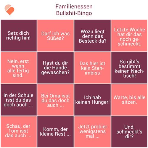 Bullshitbingo_Familienessen