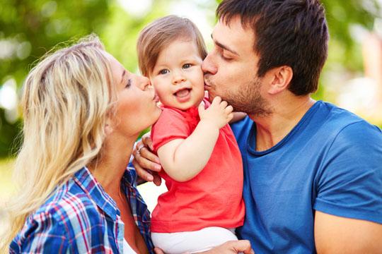 Küsse von Mama und Papa