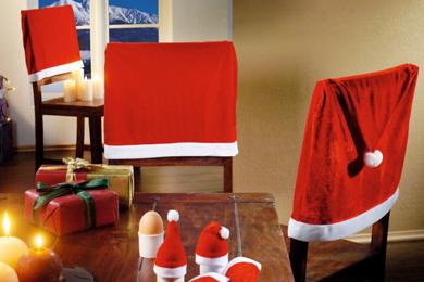 Weihnachtliche Stuhlhussen