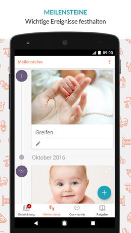 Baby-App Meilensteine