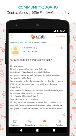 Baby-App Comunity-Zugang