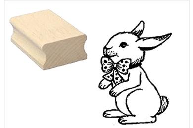 Holzstempel Hase