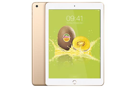 Ein Apple iPad von Zespri® SunGold Kiwi