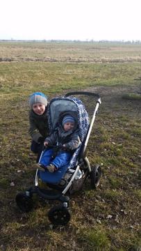 Spaziergang im Stella mit dem großen Bruder
