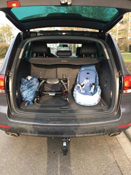für Gepäck und Einkäufe ist auch noch Platz